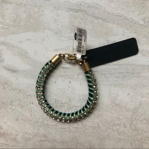 J.Crew Sparkle Blue and Green Bracelet